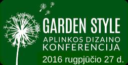 Aplinkos dizaino konferencija Garden Style 2016